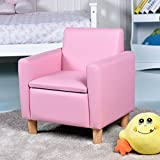 <span class='highlight'>COSTWAY</span> Kids <span class='highlight'>Sofa</span> Storage Children Armchair Single Seater Seat Boys Girls Lounger Padded Chair Furniture Home Indoor (Pink)