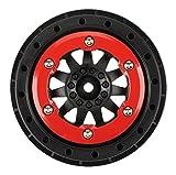 PROLINE 274603 F-11 2.2/3.0 Bead-Lock Wheels for Slash Rear, Red/Black
