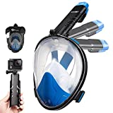 Dorlle Snorkel Mask Full Face,Snorkeling Mask Diving Mask for Adults and Kids