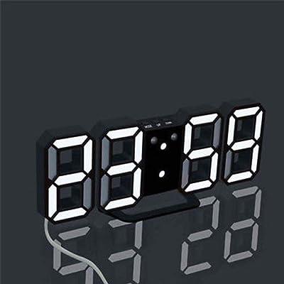 MObast - Reloj despertador digital LED para casa, oficina, dormitorio, sala de estar