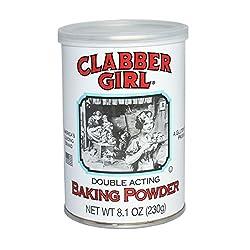 Clabber Girl Baking Powder - Gluten Free Vegan, Vegetarian, Double Acting Baking Powder in a Reseala
