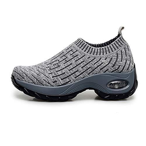 lefeindgdi Zapatos de senderismo para mujer, fáciles de caminar, cómodos y transpirables, informales, de moda