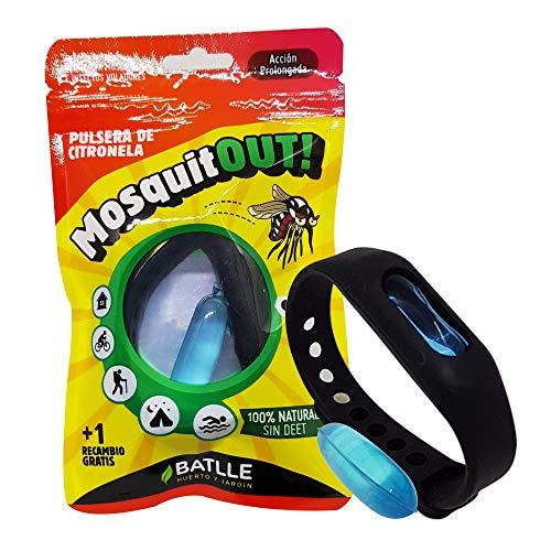 Semillas Batlle 730198UNID Pulsera Anti-Mosquitos de citronela, Neutro
