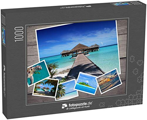 fotopuzzle.de 1000 Teile Puzzle Collage Malediven - klassisches Puzzle als Foto-Collage mit 6 Malediven-Bildern