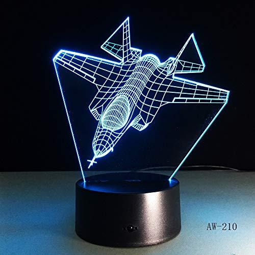 Flugzeugnachtlichtfernsteuerungsnoten-Kämpfer-Schreibtischlampenlichtfarbänderungs-Innenlicht als Kindergeschenkspielzeug