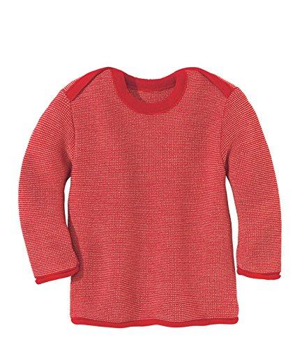 Disana 31335XX - Melange-Pullover Wolle rot/rose, Size / Größe:86-92 (1-2 Jahre)