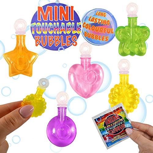 12 x Seifenblasen in bunten Fläschchen ┃ Langanhaltende Seifenblasen ┃ Anfassbar ┃ Mitgebsel ┃ Kindergeburtstag