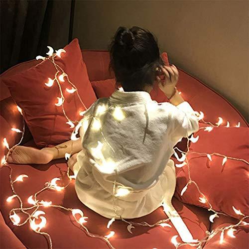 Neue USB-powered 20LED Kunststoff mondförmige dekorative Lichterkette, Hausgarten Weihnachten Laterne,Kunststoff geformte dekorative String Weihnachtslaterne