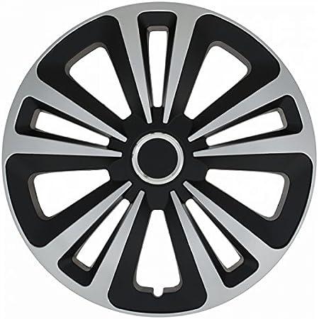 4er Set Radkappen Radblenden Radzierblenden Trm Schwarz Silber Größe 15 Zoll Universal 16 Zoll Auto