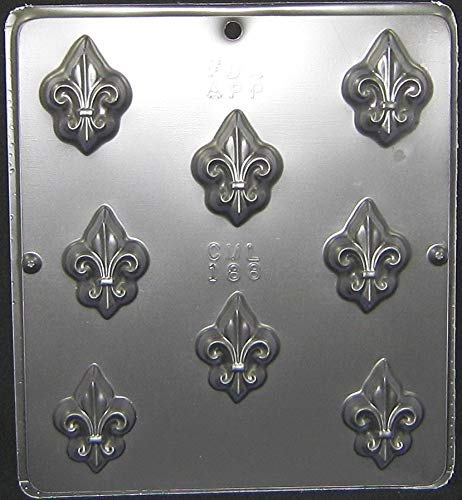 Candy Molds N More Fleur de Lis Chocolate Candy Mold, Model 188