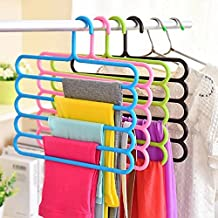 House of Quirk 2 Piece Plastic Hanger, 5 Layer, White