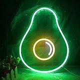 Luces de neón de aguacate LED, letrero de neón de frutas, letreros de pared, lámpara, luces de neón para habitación de niños, decoración de dormitorio, letreros de fiesta de cumpleaños de Navidad…