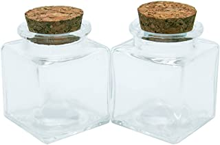 Allenzhang Mini bouteille de verre carrée avec bouchon de bouchons de bouchon de bouchon de bouchon carré vide bouteilles ...