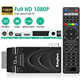 Decoder Digitale Terrestre, Kingbox Decoder Ricevitore Digitale DVB-T2 TV SCART HDMI 1080P H.265...