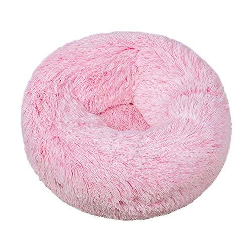 Pluche donut hondenmand, ronde warme zachte kennel zachte orthopedische verlichting en verbeterde slaap huisdier bed machine wasbare kattenbank