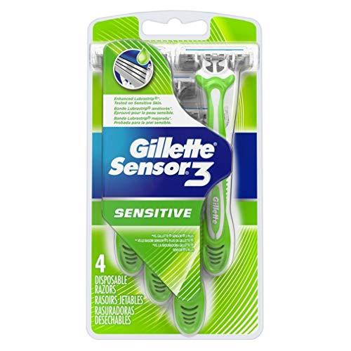 Gillette Sensor 3 Disposable Razors Sensitive - 4 ct, Pack of 4