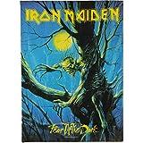Iron Maiden Fear of The Dark Unisex Bandera Multicolor, 100% poliéster, 75 x 110 cm