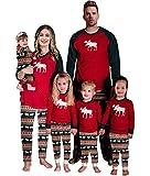 Baonmy Christmas Holiday Family Matching Sleepwear Pajamas Set (Infant, 9M)