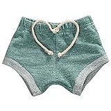 Infant Baby Toddler Little Boys Girls Kids Harem Pants Pure Color Baby Shorts (9-18M, Green)