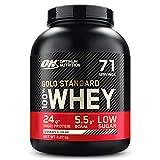Optimum Nutrition ON Gold Standard Whey Protein Pulver, Eiweißpulver Muskelaufbau mit Glutamin und Aminosäuren, natürlich enthaltene...