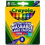 Crayola Ultra Clean Large Washable Crayons, School Supplies, 8 Count
