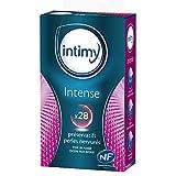 INTIMY - Préservatifs intense, x28 - Préservatifs Lubrifiés Avec Réservoir - Surface texturée - Latex de Qualité Supérieure