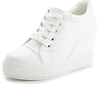 U-MAC Women's Fashion Sneakers Wedges Sneakers Breathable Platform Casual Shoes