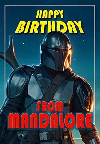 Tarjeta de cumpleaños – Mandaloriano – Star Wars – todo color en el interior – ¡Publicado el mismo día!