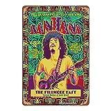 HONGXIN Carlos Santana Poster Art Vintage Metall Zeichen