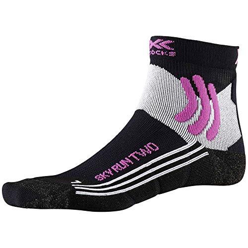 X-Socks Sky Run Two Women Socks, Mujer, Opal Black/Arctic White, 39-40