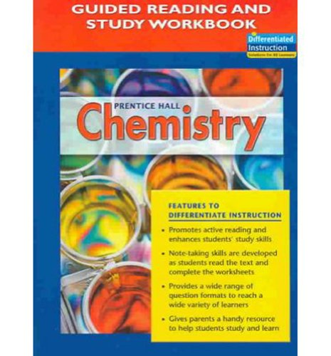 Prentice Hall Chemistry: Guided Reading and Study Workbook