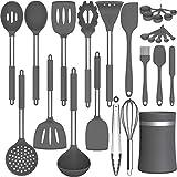 Kitchen Cooking Utensils Set, AIKKIL 26 pcs Non-stick Silicone Kitchen Utensils Spatula Set with...