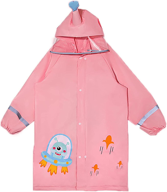 BMDHA Kids Max 71% OFF Rain Jacket List price Reflectiv Cartoon Girls with