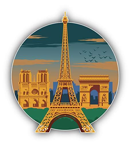 Eiffeltoren Parijs Stad Frankrijk Reizen Landmark - Zelfklevende Sticker Auto Venster Bumper Vinyl Decal
