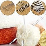 Zhi Zhi 4 Piezas/Set de Tejer de Acero Inoxidable Agujas 25 cm Doble Aguja de Ganchillo suéter Aguja de la Herramienta de Bufandas (Color : Number 13 2mm)
