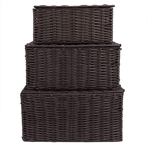 Wash basin-FEI Decoración del Organizador del sostenedor de Las cestas de Almacenamiento Elegante del hogar 3pcs portátil para el Juguete de la Ropa