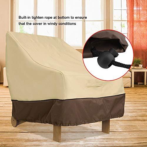 Zerodis Essential Anti-Staub-Abdeckung für Terrassenstühle, strapazierfähig, wasserdicht, für Möbel, Stühle, Sofa-Abdeckung für Außenbereich, Garten, Terrasse, Esszimmer, 96,5 x 89 x 79 cm