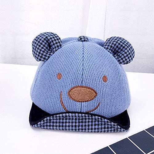 mlpnko Sombrero de bebé Gorro de Dibujos Animados niños Gorro de Mula Suave bebé Lindo Gorro Azul 44-48cm
