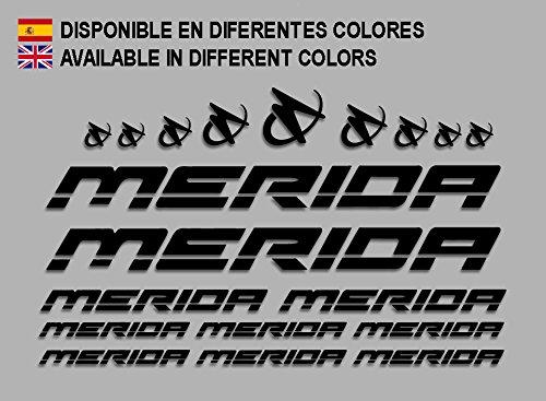 Ecoshirt T2-3496-75GF Pegatinas Merida Frame Set Bikes F150 Stickers Aufkleber Decals Autocollants Adesivi MTB BTT, Negro