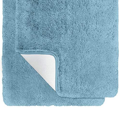 Gorilla Grip Alfombra de baño de lujo de 40 x 60 cm más 50 x 76 cm, increíblemente suave, gruesa, absorbente, lavable a máquina y...