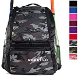 Athletico Baseball Bat Bag - Backpack for Baseball, T-Ball & Softball Equipment & Gear for Youth and Adults |...