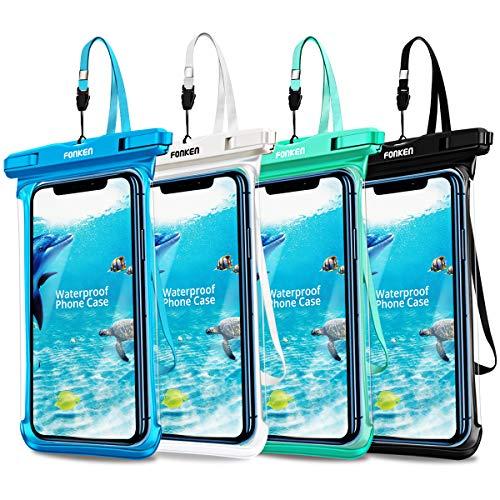 Universal Waterproof Case, FONKEN Waterproof Phone Pouch IPX8 Cellphone Dry Bag Underwater...