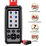 Autel MD806 Pro, OBD2 Scanner Upgraded Version of MD802/MD808 with All System Diagnoses, 7 Special Features, Plus DTC Lookup, Data Playback & Print for DIYers and Mechanics