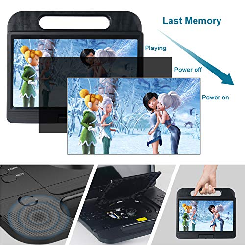 FANGOR 13.3 Inch Portable Bluray Player with 12