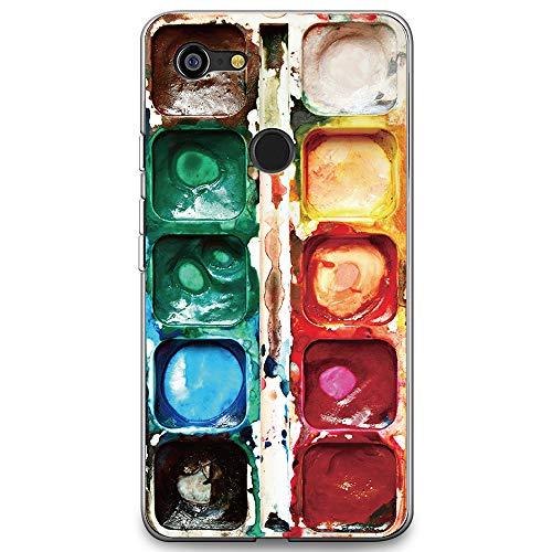 CasesByLorraine Compatible with Google Pixel 3 XL Case, [for Men & Women] Watercolor Paint Box Print Design Flexible TPU Soft Gel Protective Cover for Google Pixel 3 XL 6.3' (2018)