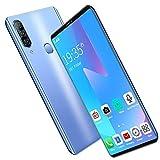 QWEIAS P43 Smartphone 6GB RAM+128G ROM 5.72inch Dual SIM Android 4G del Teléfono Móvil 4000mAh Batería Grande 8MP Cámara De Huellas Dactilares De Belleza Face ID Blue
