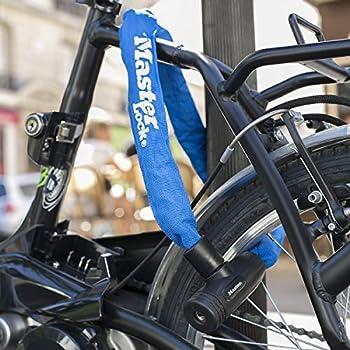 MASTER LOCK Chaîne Antivol Vélo [Clé] [90 cm Chaîne] [Bleu] 8391EURDPROCOLB - Idéal pour les Vélos, Vélos Electriques, VTT et autres