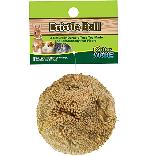 Ware Manufacturing Natural Broom Grass Fiber Ball Chew Toy for Small Pets