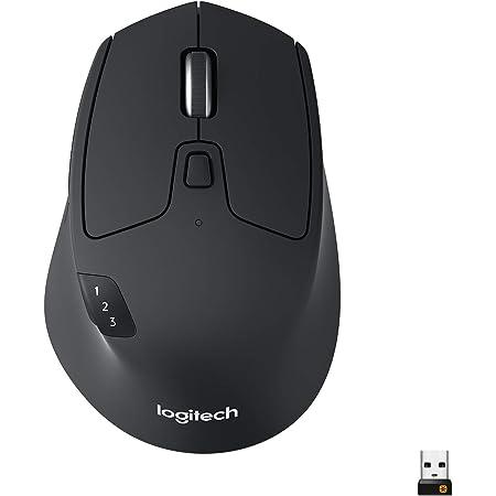 Logitech M720 Triathlon Ratón Inalámbrico, Multi-Dispositivo, 2,4 GHz o Bluetooth Receptor Unifying, 1000 DPI, 8 Botones, Batería 24 Meses, Portátil/PC/Mac/iPad OS, color Negro