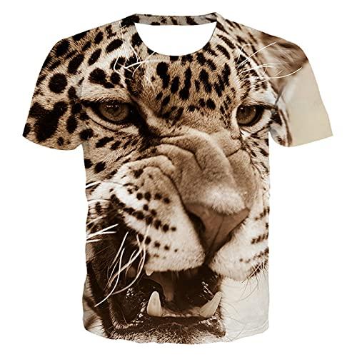 DREAMING-Camiseta Casual impresión Digital 3D Suelta Manga Corta Top Verano Cuello Redondo pulóver Mangas Cortas para Hombres y Mujeres S